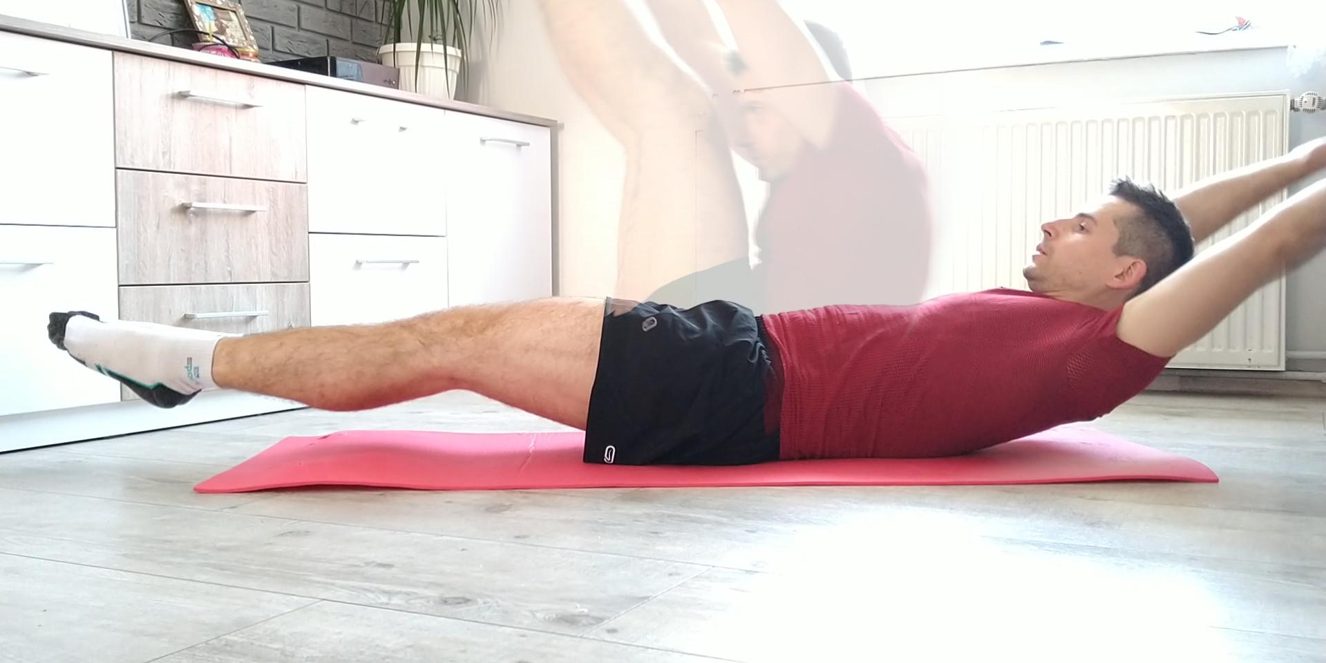 Scyzoryki – najlepsze ćwiczenie na brzuch w leżeniu